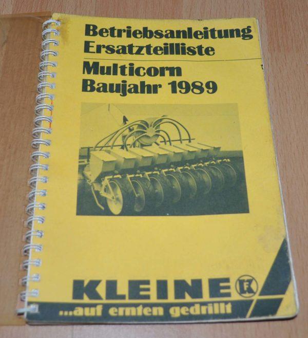 1989 Kleine Multicorn Parts Catalog Manual
