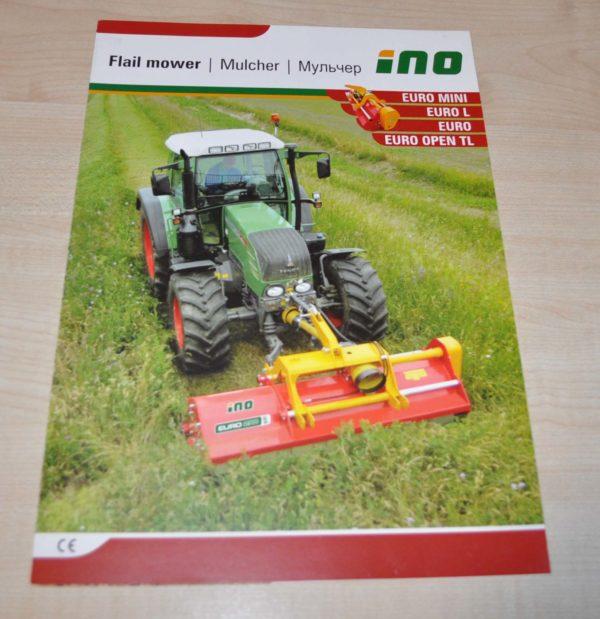 INO Flail Mower Traktor Austrian Brochure Prospekt
