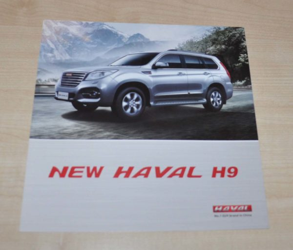 Great Wall Haval H9 Chinese Brochure Prospekt