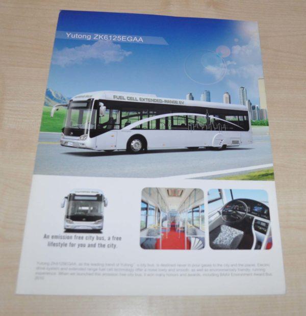Yutong ZK6125EGAA Bus Brochure Prospekt