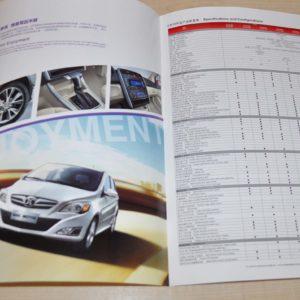 BAIC E-Series Chinese Brochure Prospekt