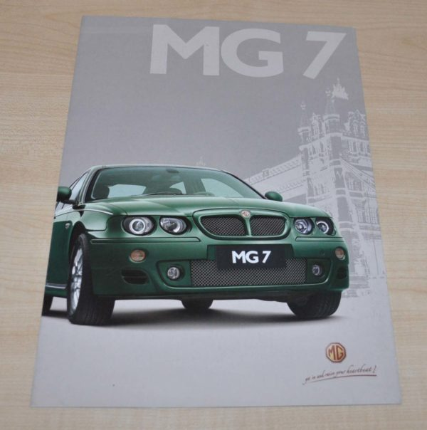 MG 7 Cars Chinese Brochure Prospekt