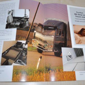Steyr Mittelschweren Truck Brochure Prospekt