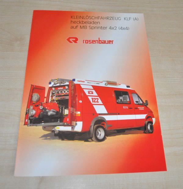 Rosenbauer KLF Fire Engine Mercedes Benz Sprinter Truck Brochure Prospekt