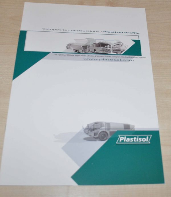 Plastisol Profile Truck Fire Engine Brochure Prospekt