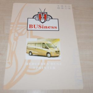 BUSiness Minibus Mercedes Benz Sprinter Brochure Prospekt