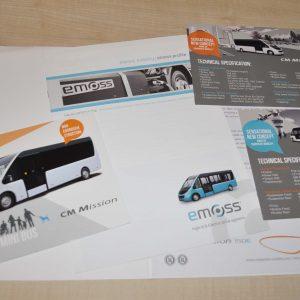 CM Mission Minibus Composite Mobility Fiat Ducato Brochure Prospekt Press Folder