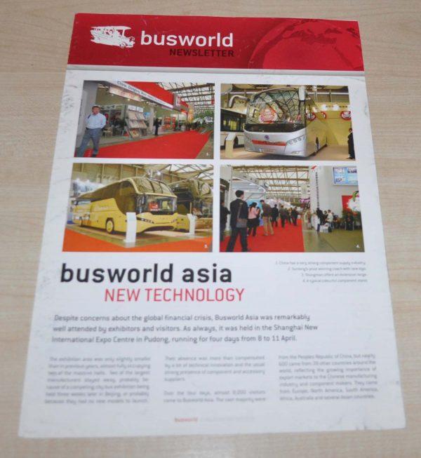 Busworld Asia 2009 Bus Brochure Prospekt