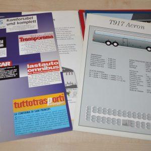 Van Hool T9 Model Range Bus Brochure Prospekt