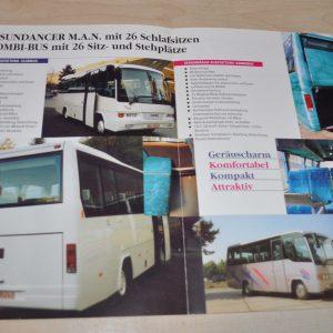 Omnibus Trading MAN Bus Brochure Prospekt