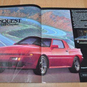 1987 Chrysler Plymouth Imports Mitsubishi Model Range Brochure Prospekt
