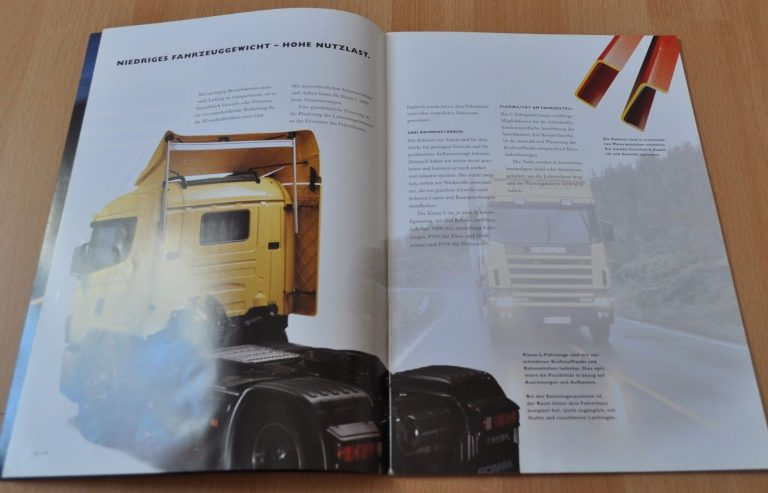 Scania L Series Truck Brochure Prospekt German Edition