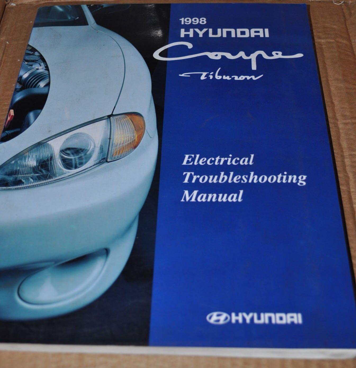 Hyundai Coupe Tiburon 1998 Electrical Troubleshooting Manual Original -  AUTO BROCHURE