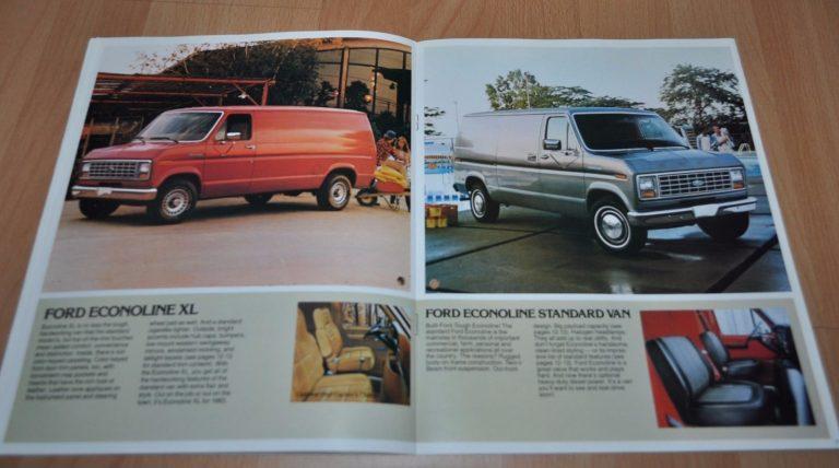 1983 Ford Econoline Vans Brochure Prospekt