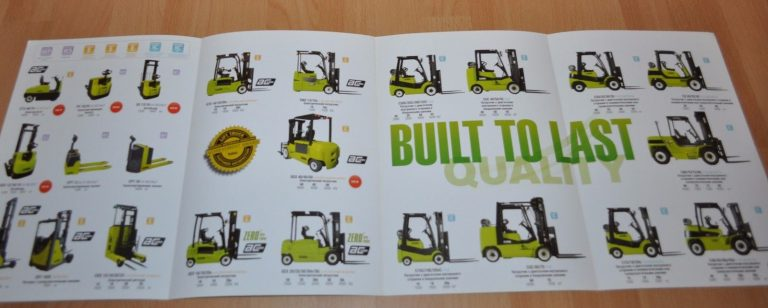 Clark Forklift & Loader Model Range Brochure Prospekt