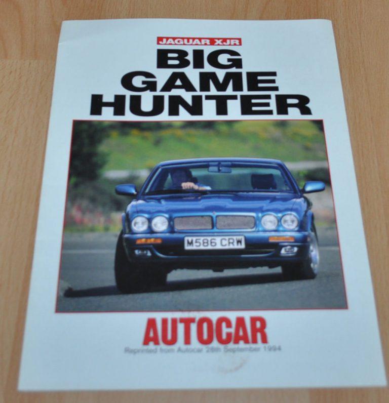 Jaguar XJR Autocar Magazine Big Game Hunter Sales Brochure Prospekt ...