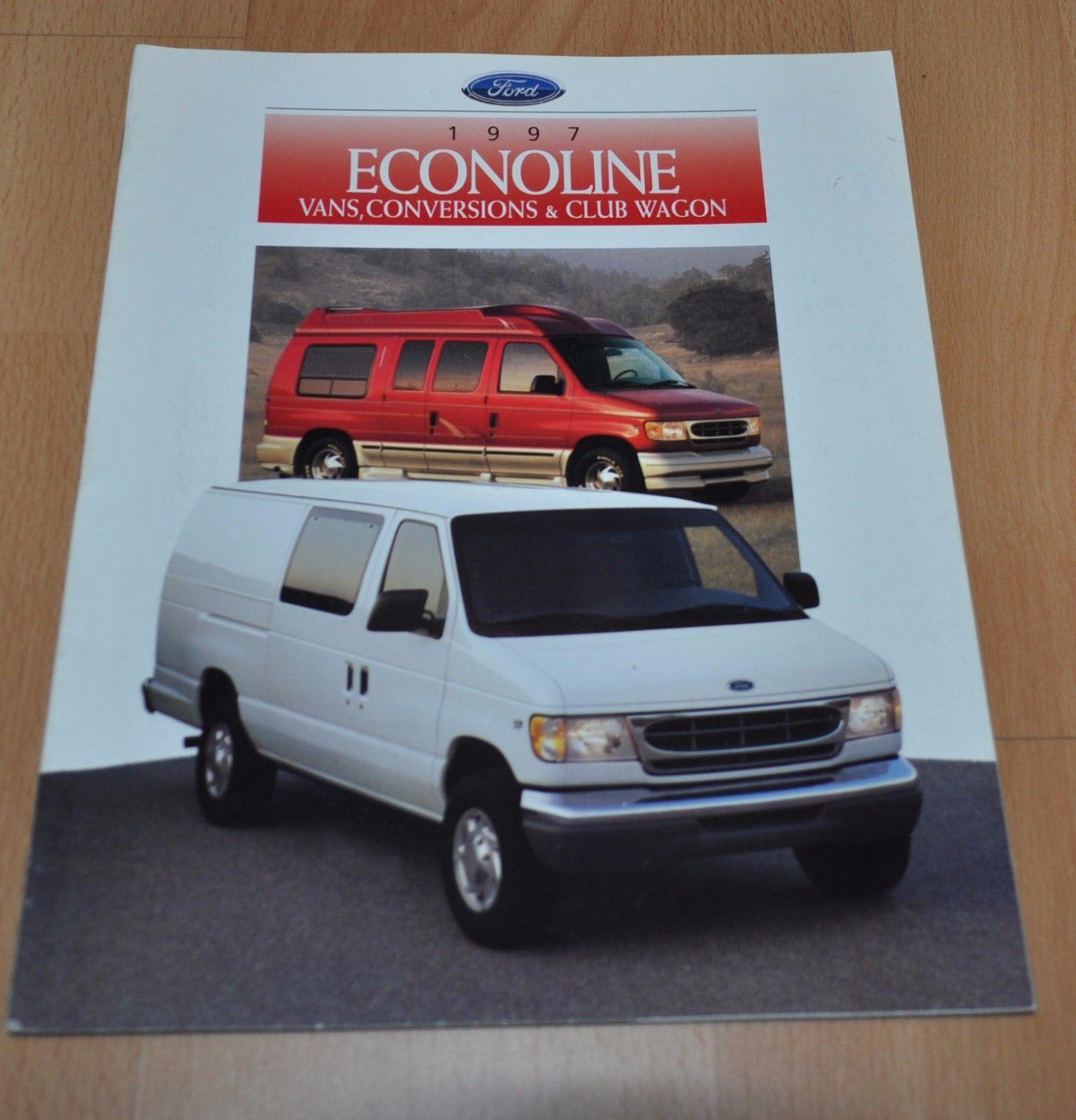 1997 Ford Club Wagon Vans Conversions Brochure Prospekt