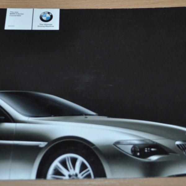 BMW Series Convertible E Brochure Prospekt ENG Edition - 2003 bmw 6 series