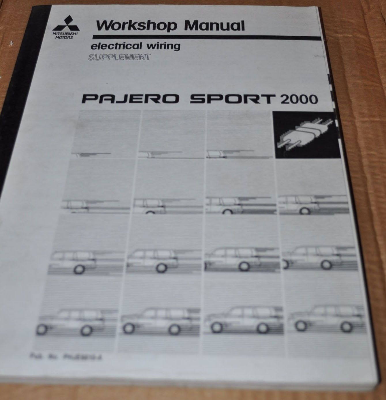 Mitsubishi Pajero Sport 2000 Electrical Wiring Supplement Workshop Manual  Book - AUTO BROCHURE