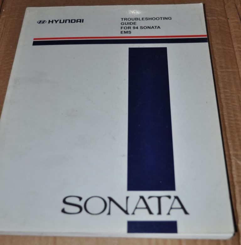 hyundai sonata 1994 troubleshooting guide wiring diagram ems