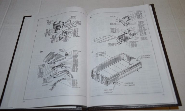 Ural 5557 Farm Truck Parts Catalog Zapchastexport Russian Reprint