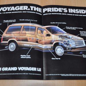 1987 Plymouth Voyager Sales Brochure Prospekt AD
