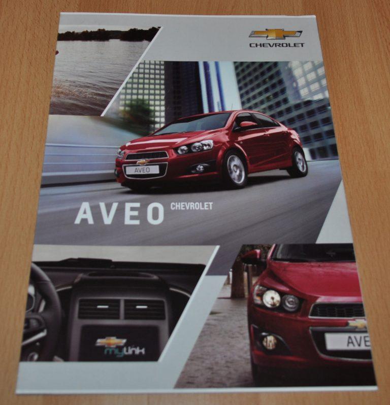 Chevrolet Aveo Russian Brochure Prospekt Daewoo Auto Brochure