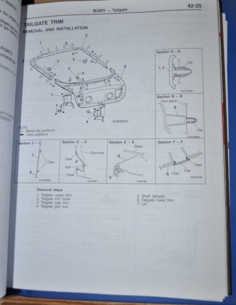 Mitsubishi Carisma 1996 97 98 99 00 2001 Chassis Workshop Manual Original Book Auto Brochure