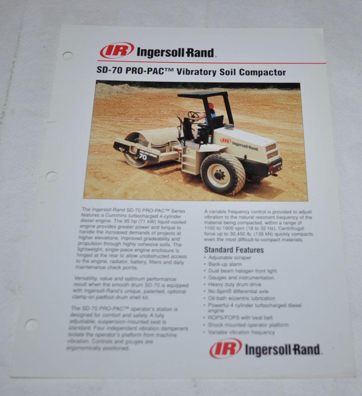 Ingersoll Rand SP-48 Vibratory Compactor Roller Brochure DCPA14