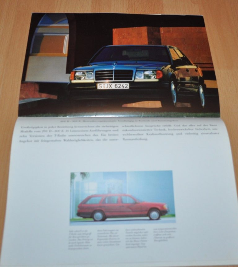 16 pagine MERCEDES SL r129 PROSPEKT BROCHURE DI 8//1990