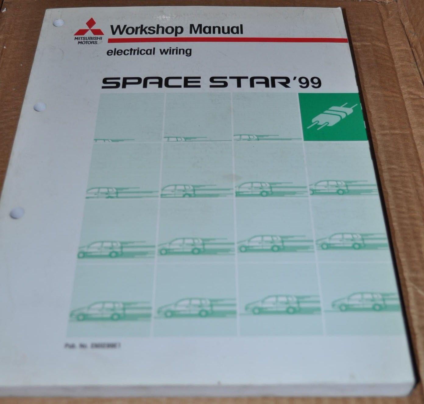 Mitsubishi Space Star 1999 Electrical Wiring Workshop Manual Original Book  - AUTO BROCHURE