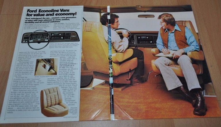 1976 Ford Econoline Vans Brochure Prospekt