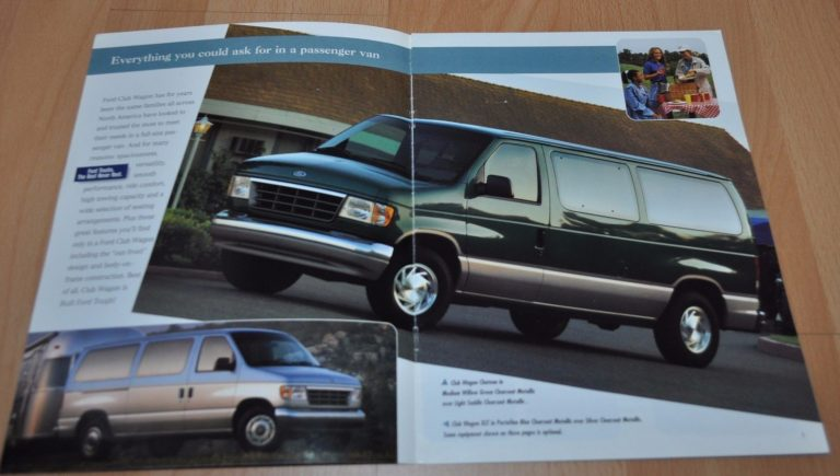 1996 Ford Club Wagon Vans Brochure Prospekt