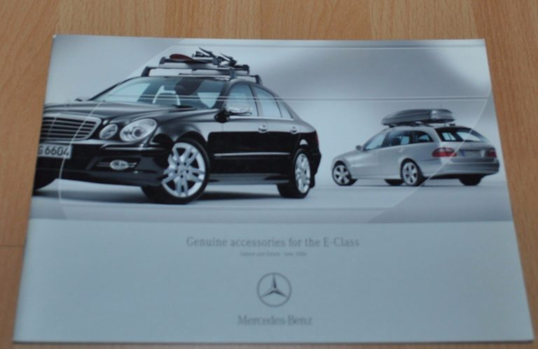 Mercedes Benz W211 Accessories E-Class Brochure Prospekt 0606