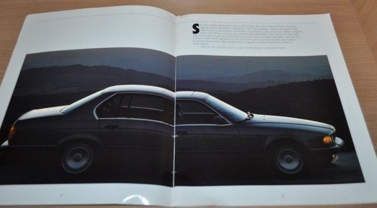 1987 BMW 750i 750iL E32 Brochure Prospekt German Edition - AUTO BROCHURE