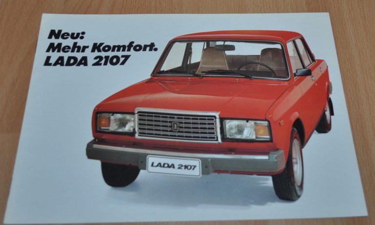 Lada 2107 Vaz Russian Brochure Prospekt Avtoexport Ussr Auto Brochure