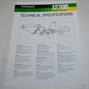 timberjack 810b technical data forwarder logging tractor brochure rh auto brochure com